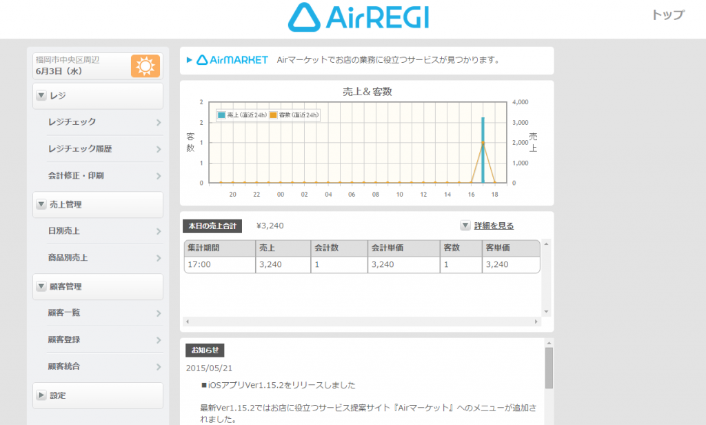 airREGI-uriage